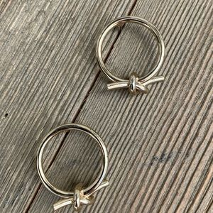 Love Knot Circle Earrings